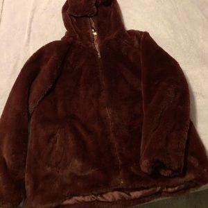 Faux bomber jacket